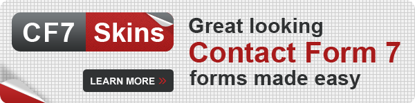 CF7 Skins - great looking Contact Form 7 forms made easy