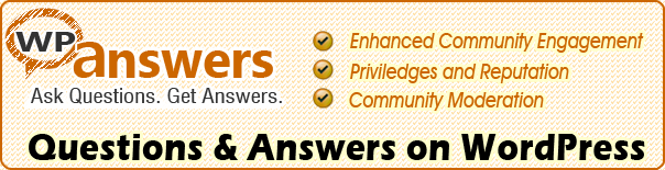 WP Answers - Questions & Answers on WordPress