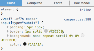 Caspar style submit button