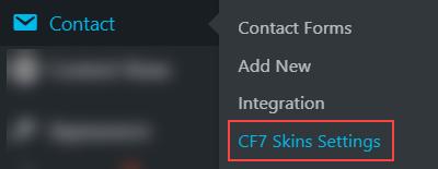 CF7 Skins Settings