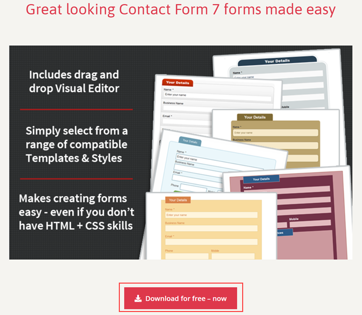 Contact Form 7 Skins Home Page