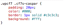 CSS of a Contact Template with Caspar Style