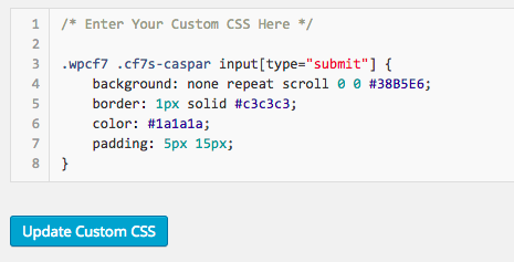 Simple Custom CSS button colour change