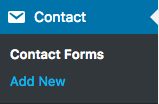 Wordpress Menu - Contact Forms - Add New